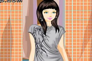 流行印花裙