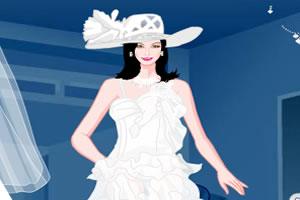 雪白色婚纱