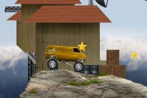岩头中的卡车