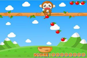 混血猴扔苹果