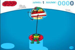 青蛙玩水艇