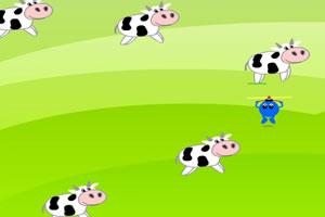 移动的奶牛
