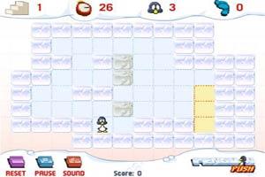 企鹅推冰块