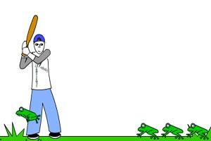 球棒打青蛙