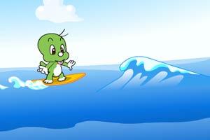 小可爱冲浪