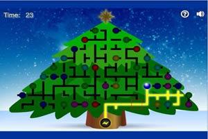 通电点亮圣诞树