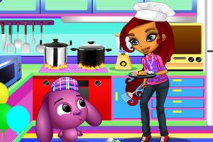 厨师丽萨打扮
