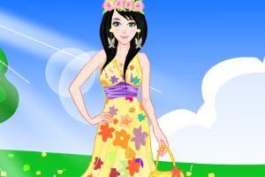 如花的春季少女