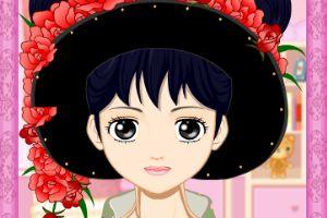 日本女孩化妆