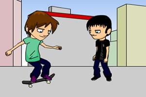 滑板小男生