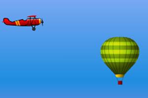 飞机躲气球