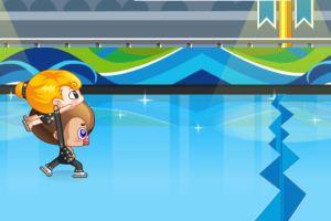 大头可妮滑冰赛
