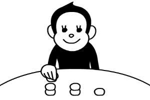 小猴吃丸子