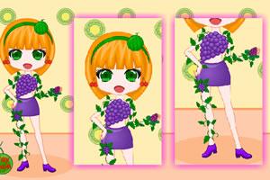 可爱的水果女孩