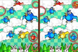 天使兔子找不同