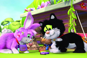 猫咪和兔子拼图