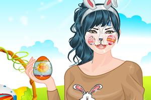 兔子脸化妆