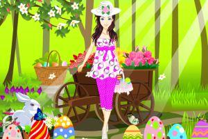 复活节的彩虹女孩