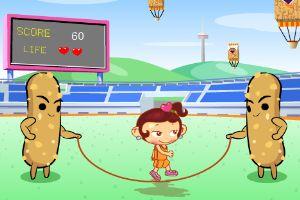 爱跳绳的女孩