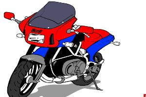 涂装摩托车