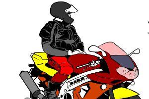 给摩托车上色