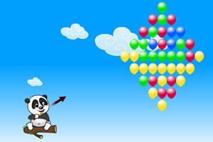可爱小熊射气球