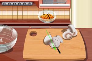 制作鸡肉饼