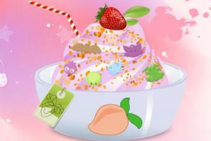 点缀酸奶冰淇淋
