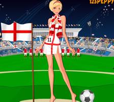 英格兰球迷的装扮