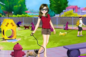 带狗狗逛公园