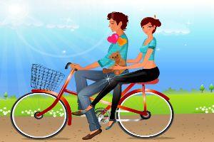 夏天夫妇野餐