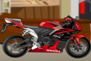 我的红色的摩托车