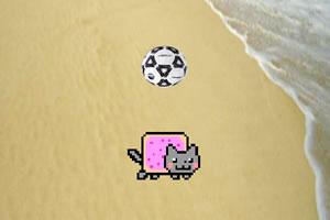 霓虹猫玩足球