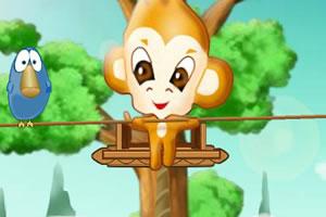 小猴走平衡杆