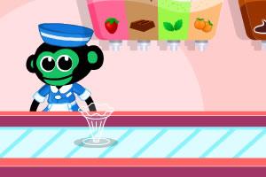 小猴子做冰淇淋