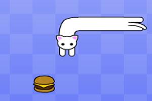 长猫吃汉堡