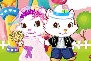 可爱小猫婚礼
