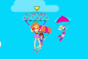 美女降落伞