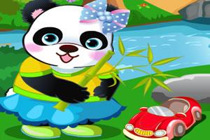 乖巧的熊猫