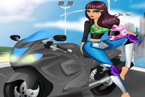 超酷的女摩托车手