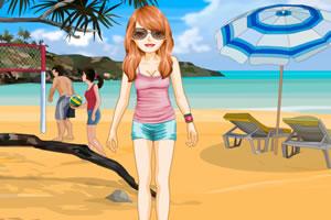 夏日沙滩运动