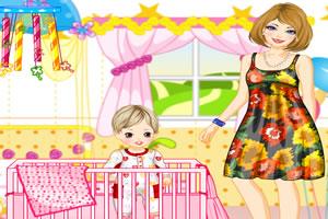 时尚妈妈和宝宝