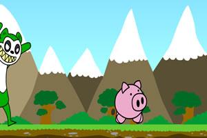 逃命的小猪