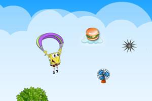 海绵宝宝滑翔伞