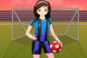 足球女孩装扮