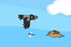 乌鸦抓昆虫