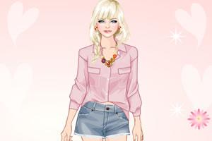 粉红女郎装扮