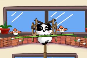 憨熊猫平衡绳索