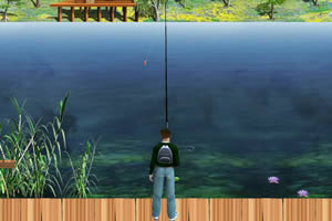 荷塘湖边钓鱼