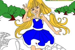 童话小女孩涂色